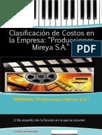 Clasificación de Costos. CLASE N 1
