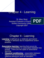 Chapter 4 - Learning