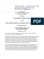 Testimony Senate Hearing on Tax Policy 09-04-2013