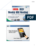108th HSJV Weekly Meeting