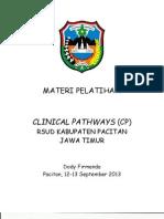 Panduan Praktik Klinis  (PPK),  Clinical Pathways, Daftar Kewenangan Klinis di  RSUD Pacitan Jawa Timur