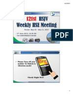 121st HSJV Weekly Meeting