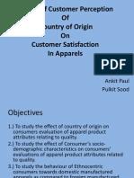 Impact of Country of Origin