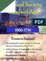 Colonial Society 1660-1750