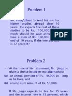 Time Value Problem