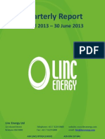 LNC - August 1 2013 - Quarterly Activities Report