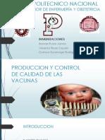 Produccion y Calidad de Las Vacunas