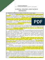 DEMOCRACIA SOCIAL POLITICA, EDUCA+ç+âO E CIDADANIA