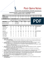 09.10.13 Post Game Notes