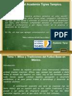 Mitos y tradiciones del fútbol base en México. Diapositivas