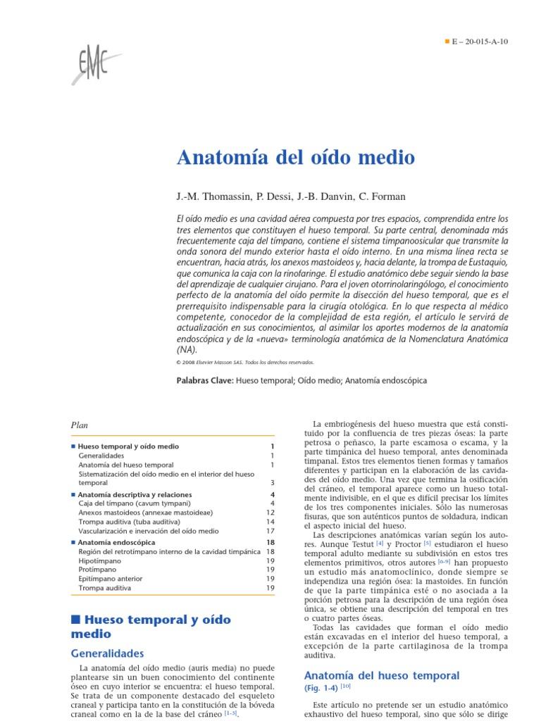 Anatomia Del Oido Medio