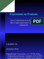 Expressions en Français.