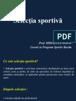 Selectia Sportiva