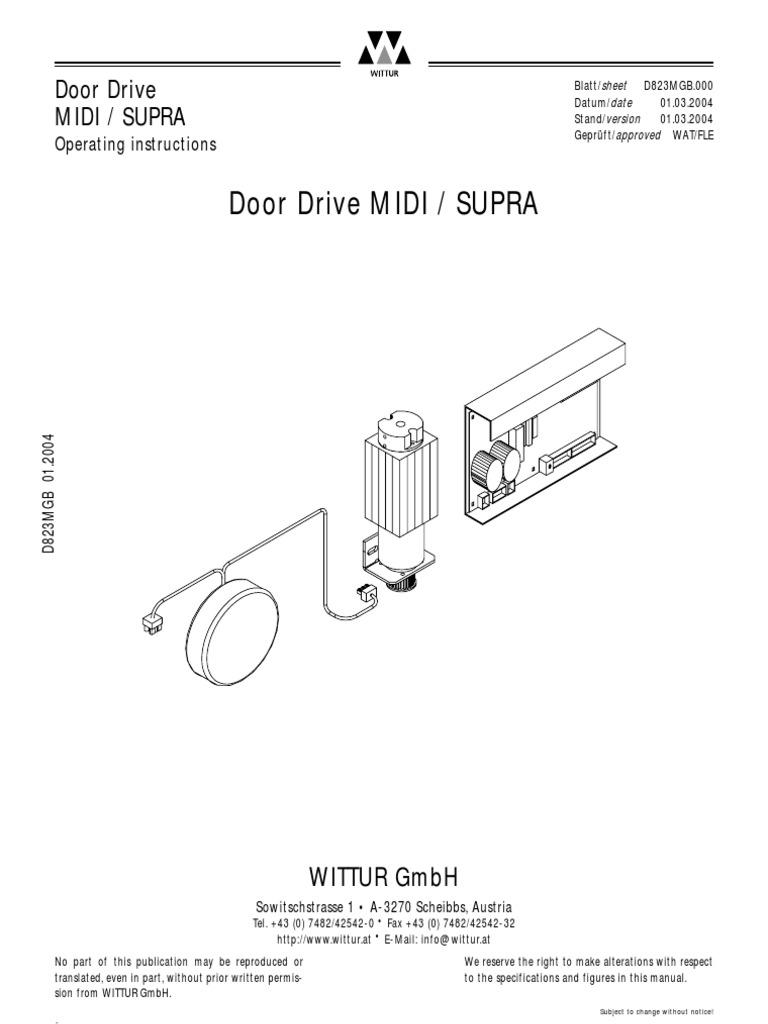 wittur door drive supra board pdf belt mechanical switch rh scribd com