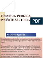 Trends in Public and Private Sector in India 2381
