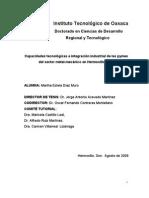Evaluación de las  capacidades tecnológicas y su impacto com