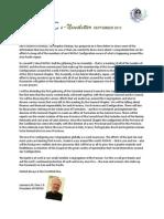 PASPAC e-Newsletter September 2013