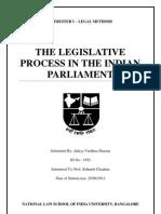 Legislative Process In the Indian Parliament