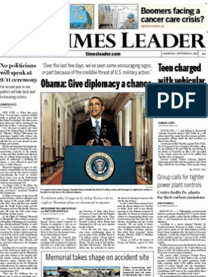 Times Leader 09-11-2013 | National Security Agency | Surveillance