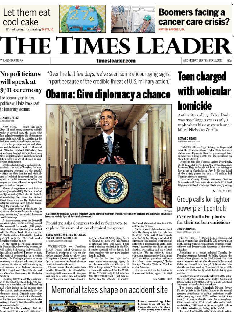 e5817f97a3 Times Leader 09-11-2013