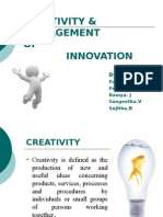 Creativity and Innovation Management Ppt