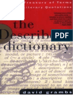 The Describer's Dictionary - A Treasury of Terms & Literary Quotations1