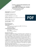 Descripción Congreso de Semiótica e Historia 2013