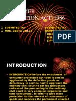Consumer Protection Act-1986 Preet Madam