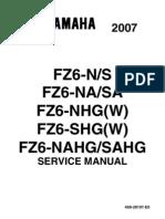 yamaha fz6 fz6 ss fz6 ssc 2003 2007 service repair manual