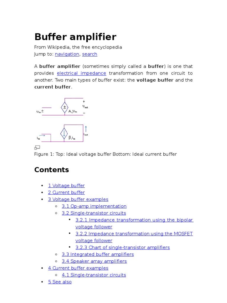 Buffer Amplifier Operational Figure 5 Bipolar Transistor Schematic