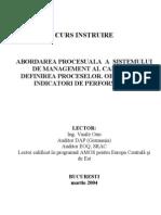Suport de Curs ISO 9001-2000 - Procese, Indicatori, Obiective