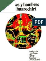 Manuscrito de Huarochirí - J.M. Arguedas