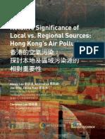 RelativeSignificanceofLocalvsRegionalSources Hong KongsAirPollution