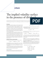 The implied volatility surface