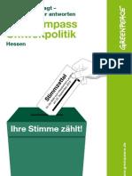 Wahlkompass Umweltpolitik 2013 (Hessen)