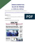 Secuencia Didactica Taller de Prensa