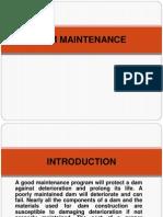 Dam Maintenace