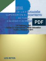 RETOS DE LA EDUCACION SUPERIOR