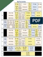 Main Pool Activities Sep to Dec 2013