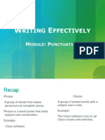 Writing Effectively Module 3 Punctuation