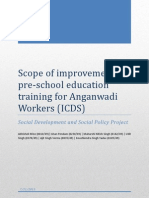 Training of Anganwadi Workers in ICDS program