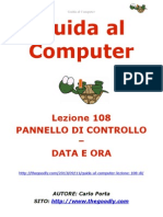 Guida al Computer - Lezione 108 - Pannello di Controllo - Data e Ora