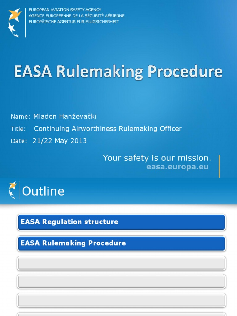 EASA Regulation Structure | Rulemaking (153 views)