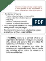 Traning and Development1
