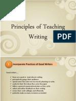 Principle of Teaching Writing