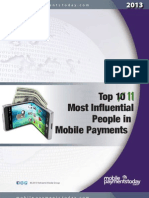Top 11 Most Influential People in Mobile Payments