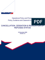 Cancellation, Cessation & Revocation of Refugee Status