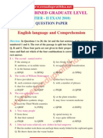Ssc Combined Graduate Level Tier II Exam 2010