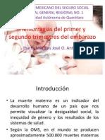 Hemorragias Del Primer y Segundo Trimestres Del Embarazo