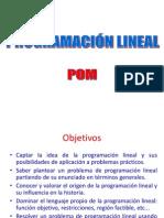 Programacion Lineal Pom